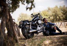biker en harley
