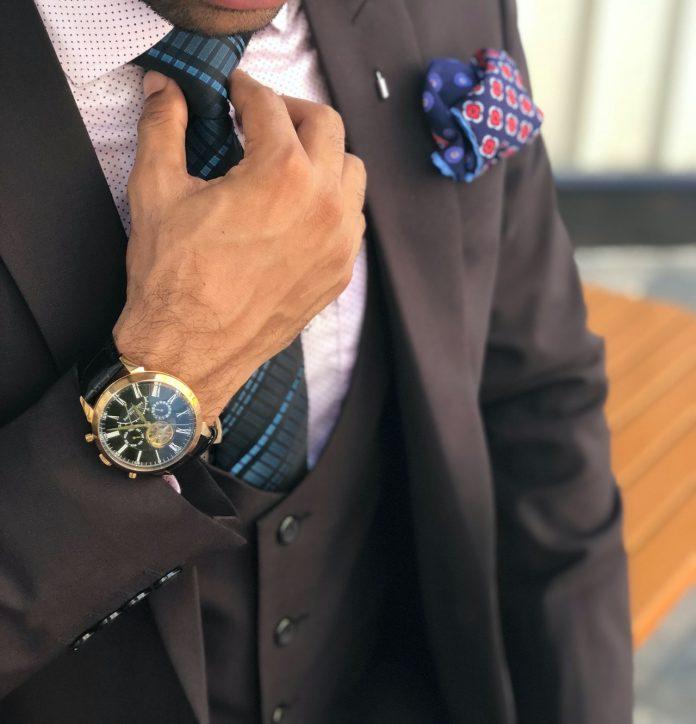 style homme avec montre