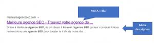 Meta title et meta description